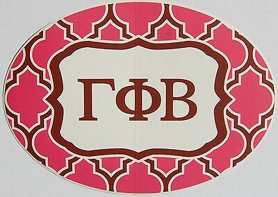 Gamma Phi Beta Sticker Of Letters Moon Mascot For Outside