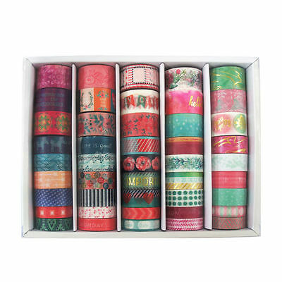 NEW RELEASE! BEAUTIFUL MICHAELS RECOLLECTIONS Washi 45 PIECE BOX Spring Flowers