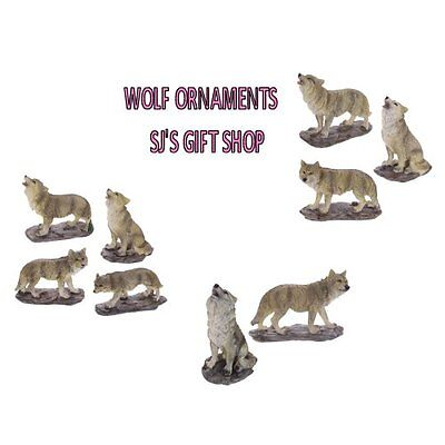 Wolf Ornaments - Figurines -  Wolves - Wild - Howling - Gift Idea - Mid Night