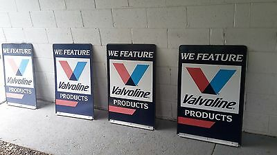 """We Feature Valvoline metal double sided sign (4 available) 24"""" x 35.5"""""""
