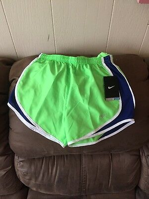 NWT Nike Dri-FIT Tempo Women's Running Shorts Voltage Green Blue  XS 624278 380