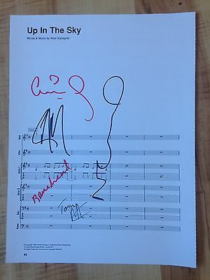 Oasis Signed / Autographed Up In The Sky Sheet Music - Tony Mc Carroll