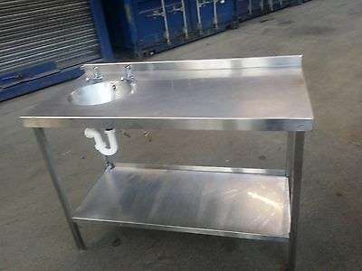 Stainless Steel Table Prep Table With Hand Basin/Sink