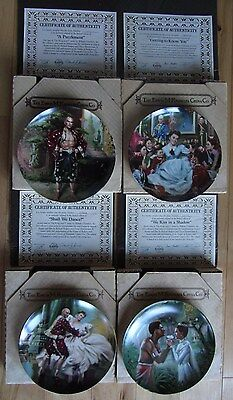 """""""The King and I"""" by Chambers- Complete 4-plate Set - Knowles Collectors Plates"""