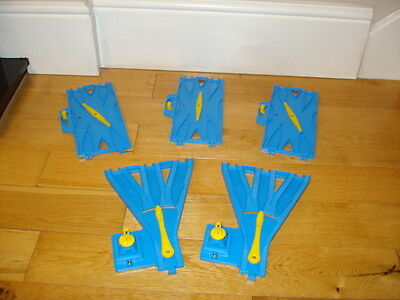 Thomas The Tank Engine - Tomy Blue Track Points Switching Crossing Track Bundle