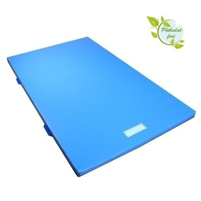 Gymnastic Mat 150 x 100 x 6 cm with Anti-Slip Base, Carry Handles - in 5 Colours