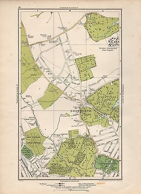 1923 London Street Map - Southgate, New Southgate