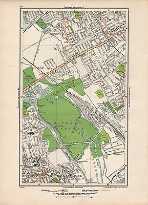1923 London Street Map - Walthamstow,leyton,clapton Park,hackney Marshes