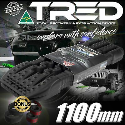 Black Tred Recovery Tracks Offroad Board 1100 Mm 4X4 4Wd Max Grip Treds Mudtrax