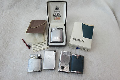 Collection Vintage Ronson Rolstar And Winn Lighters