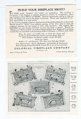 Colonial Fireplace Company Vintage Advertising Package