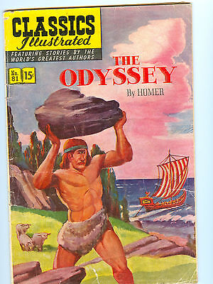 Classics Illustrated #81 VG - The Odyssey - HRN 82, First Edition