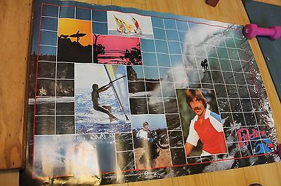 Gerry Lopez Pipeline Lightning Bolt Hawaii 1970's Rare 22x29in. Surfing Poster