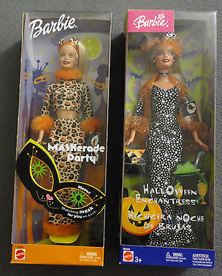 NIB 2002 Barbie Maskerade Party and 2003 Halloween Enchantress Doll