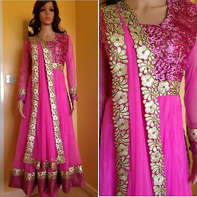 *CLEARANCE*Readymade Asian Anarkali Suit.UK SIZE 10 (bust size-38,Length-52)