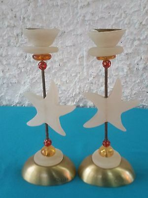 Pair of Candlesticks of artist Orna Lalo