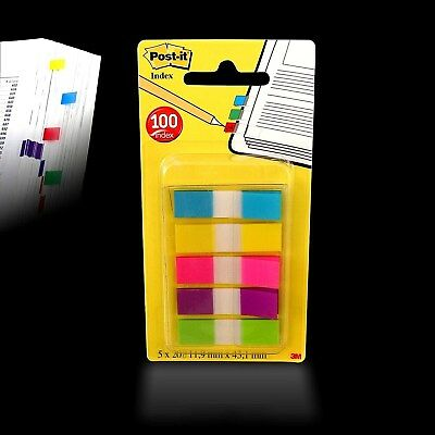 3M - Post-it® Index Mini Haftstreifen - Haftmarker - Z-Marker 5x20 im Spender