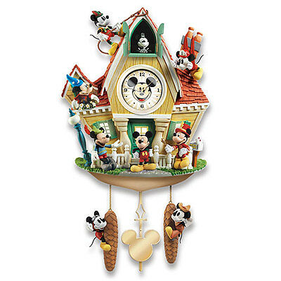 Bradford Exchange - MICKEY THROUGH THE YEARS Wall Cuckoo Clock - With Sound
