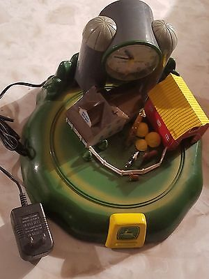 John Deere Tractor & Sound Alarm Clock Farm House Collectible Vintage Authentic