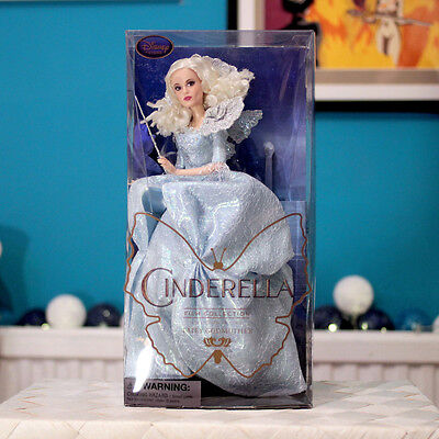 """NEW / Disney Store Cinderella Film Collection - 11"""" Doll - Fairy Godmother"""