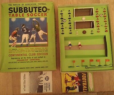 Vintage Subbuteo boxed Continental Club edition set see description and photos.