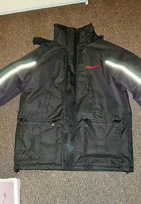 Snap On Winter Jacket XL Black With Reflective Stripes 100% Polyester