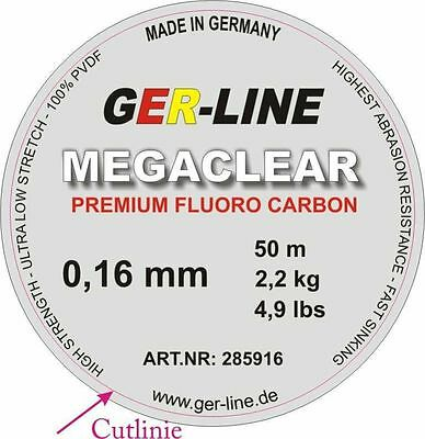 New Ger fluorocarbon fishing line 4.9lb these are 100m... new to market.