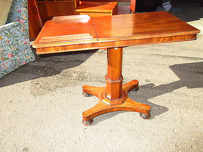 Antique Mahogany Two Sided Bed Side Adjustable Reading Table BC