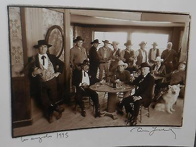 Annie Leibovitz SIGNED Photo The Westerners Cowboys of the 50's To Robert Horton