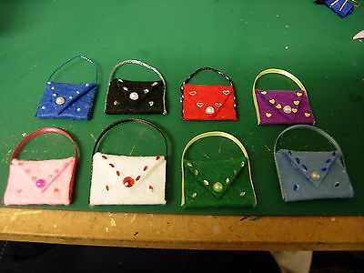 1 /12Th Scale Dolls House Handmade Set Of 4 Ladies Handbags New