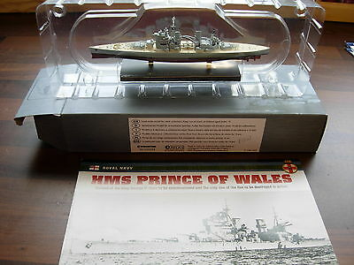 1/1200 scale atlas edition HMS Prince of wales King George V class Royal navy