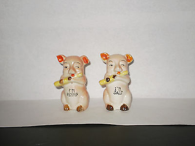 Vintage Pigs Salt N Pepper Shakers  1940's