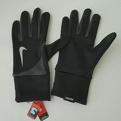 Nike Men's Element Thermal 2.0 Run Gloves (Large, Black/Anthracite) TOUCH SCREEN