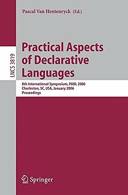 Practical Aspects of Declarative Languages: 8th International Symposium, Padl 20