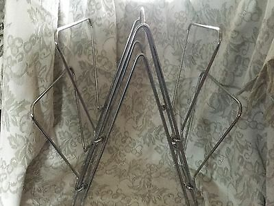 Retro chrome magazine rack, or shop display stand, atomic looking
