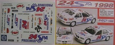 BMW 320i n° 24 PROXIMUS 24 H SPA 1998 DECAL 1/43e MINI RACING