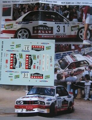 BMW M3 n° 31 RALLYE CATALUNYA / COSTA BRAVA 1995 DECAL 1/43e