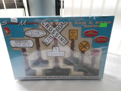 Rail & Road Signs Scene Master  G-Scale