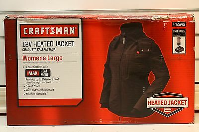 Craftsman 12V Womens Heated Jacket Large Size, Black - 43649