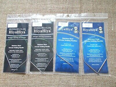 HiyaHiya Stainless Steel Circular Knitting needles, 30cm / 12""