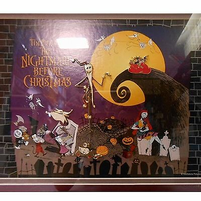 Nightmare Before Christmas pin set with frame Disney Store Limited 250 Japan