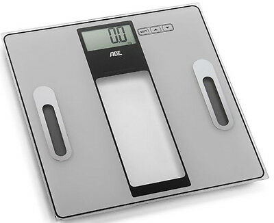ADE Body analysis scales 180kg Glass Analysewaage Body fat scales Fitness scales