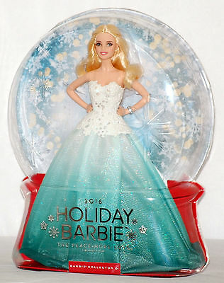 NEW 2016 Barbie The Peace Hope Love Collection Holiday Blonde Hair Aqua; DGX98