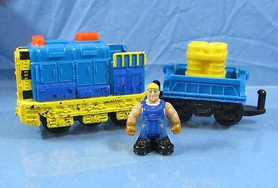 Fisher Price GeoTrax Ox & Jed Train-The Strongest Team-Lights & Sounds #L5907