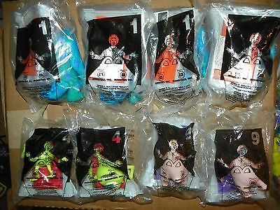 NEW 2001 McDonald's Happy Meal Monsters, Inc. Lot of 8 Toys Sulley Mike #X15