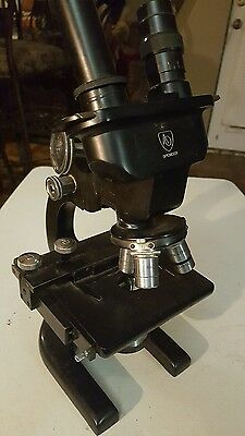 1947 Spencer Dual Eye Microscope- Chicago Lens & Instrument Co. - Usa - Antique
