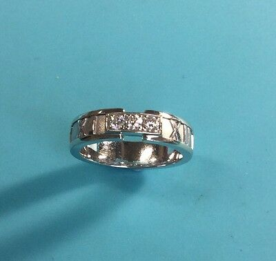 Tiffany & Co 18k White Gold & Diamonds ATLAS COLLECTION Ladies Ring