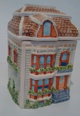 Victorian Inn Cookie Jar glazed ceramic beautifull great condition!