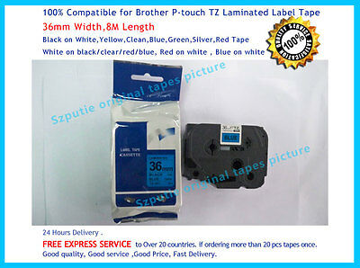 TZ-561 Black on Blue Label Tape 36mm 8m Compatible to Brother P-touch  TZe-561