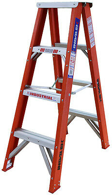 INDALEX Tradesman Fibreglass Double Sided Step Ladders 4ft 1.2m